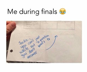funny, final, and exam image