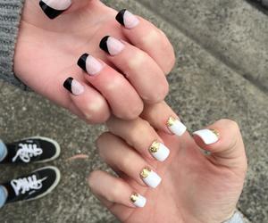 converse, nails, and vans image