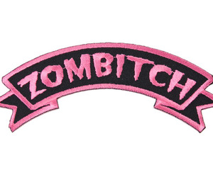 bitch, zombie, and pink image