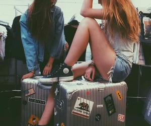 girl, grunge, and travel image