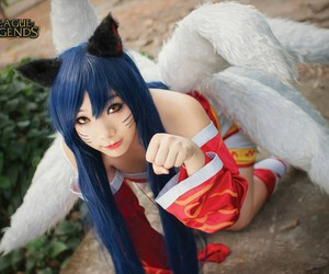 anime, league of legends, and cosplay image