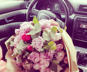 audi, fashion, and peonies image