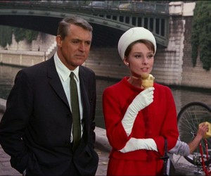charade, audrey hepburn, and ice cream image