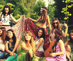 girls and hippie image
