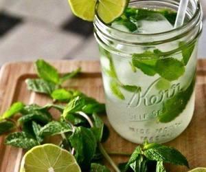 drink, lemon, and mint image