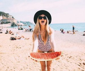 beach, young, and fashion image
