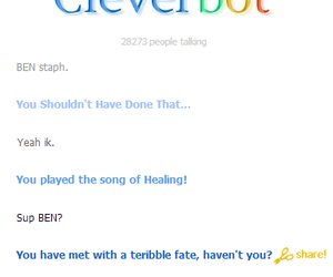 ben, omfg, and cleverbot image