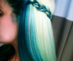 fashion, hair style, and blue green hair image