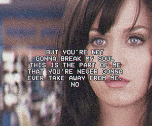 katy perry, part of me, and Lyrics image