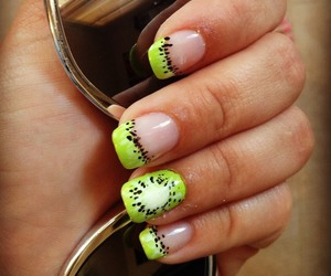 nails, kiwi, and summer image