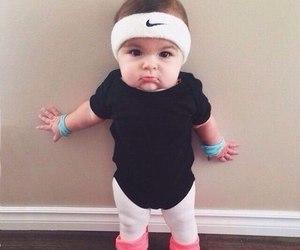 baby, nike, and sport image