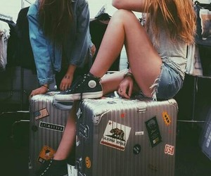 girls, suitcase, and oneday image