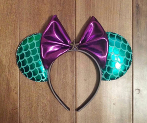 disney, mickey mouse ears, and the little mermaid image