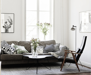 home, living room, and Scandinavian image