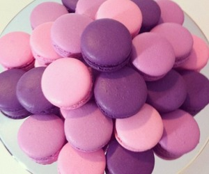 food, macaroons, and pink image