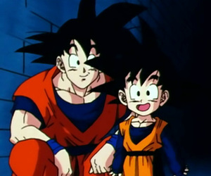 black, goku, and goten image