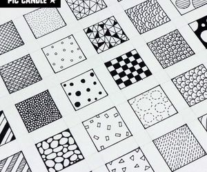 drawing, pattern, and zentangle image