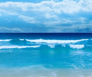 beach, sea, and blue image
