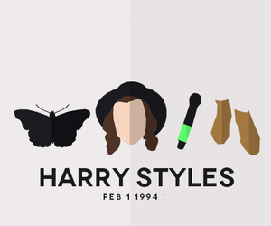 background, Harry Styles, and black image