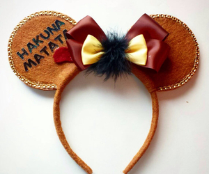 disney, mickey mouse ears, and the lion king image