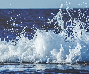 sea, waves, and water image