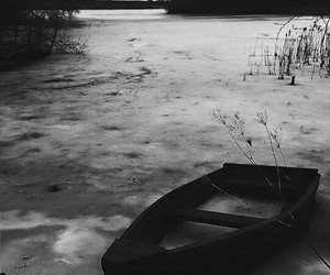boat, cold, and frozen image