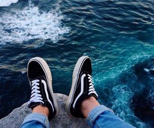 vans, sea, and ocean image