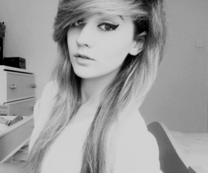 girl, hair, and eyeliner image