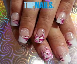 flower, acrylic nails, and uñas acrílicas image