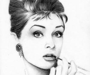 audrey hepburn, drawing, and art image