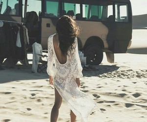 girl, beach, and boho image