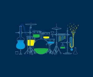 chemistry, music, and cool image