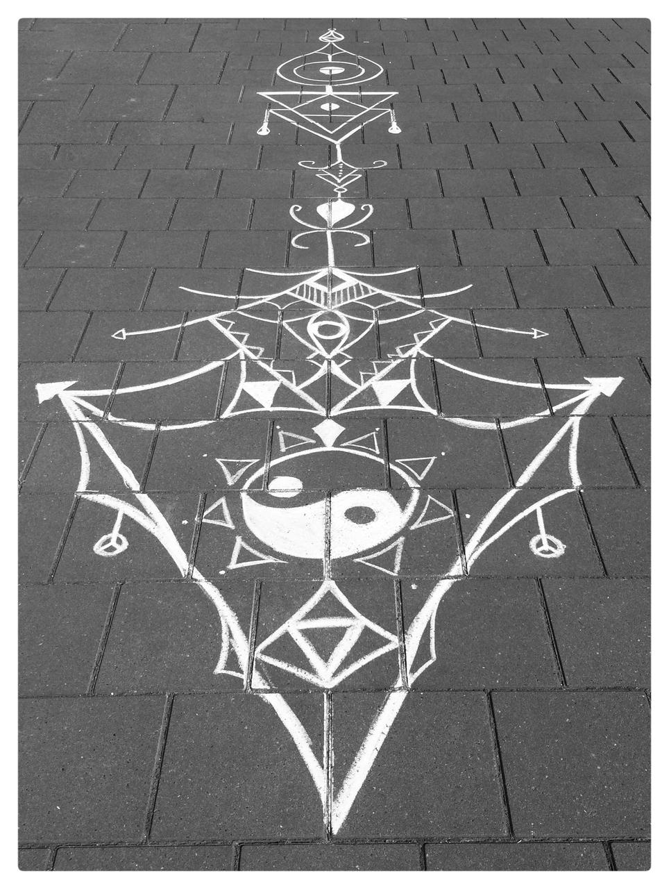 arrow, black, and chalk image