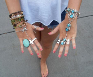 rings, bracelet, and summer image