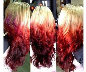 blond, hair, and red image