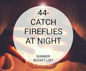 fireflies and bucket list image