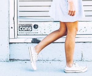 converse, girl, and dress image