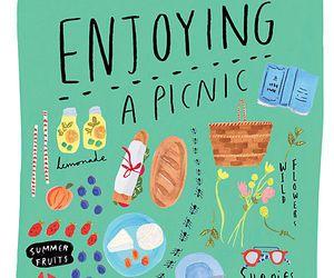 illustration, art, and picnic image