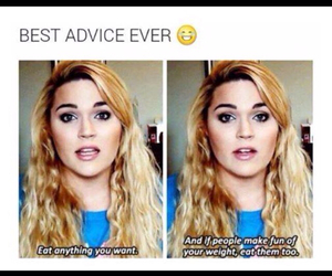 funny, food, and advice image