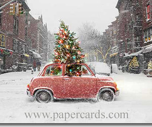 car, snow, and tree image
