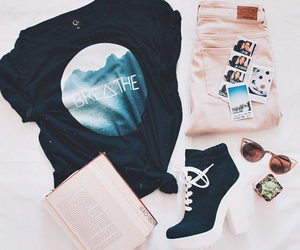 boots, jeans, and purse image