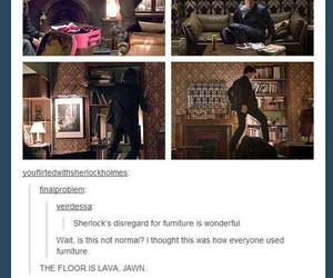 funny, sherlock, and geek image