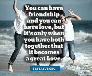 friendship, great love, and love image