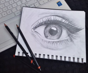 drawing, eye, and draw image