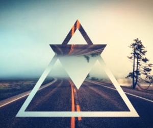 triangle, road, and hipster image