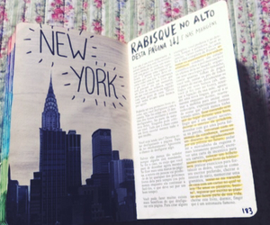 art, journal, and new york image