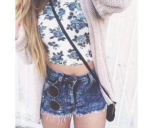 top, beautiful, and shorts image