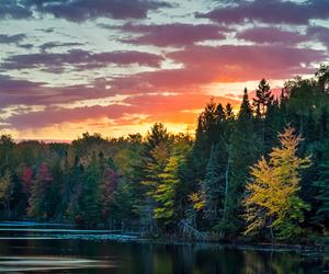 nature, lake, and sky image