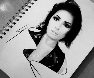 demi lovato, art, and drawing image