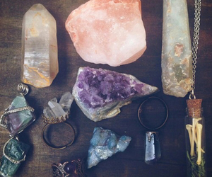 blue, crystals, and grunge image